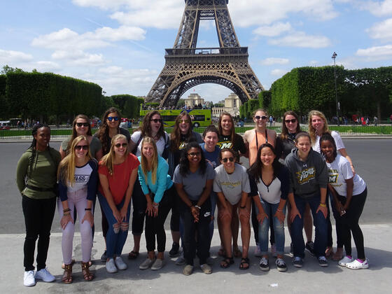 McDaniel's women's basketball team in France.