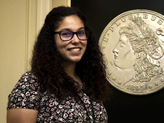 Valerie Lamb '18 at her summer internship at the U.S. Mint.