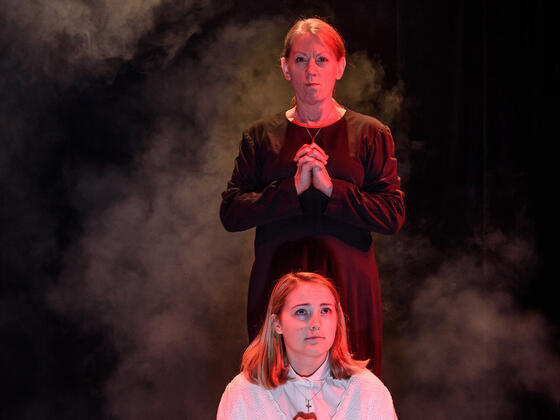 "McDaniel Theatre Arts department's production of the musical thriller, ""Carrie,"" directed by 1987 alumnus Josh Selzer."