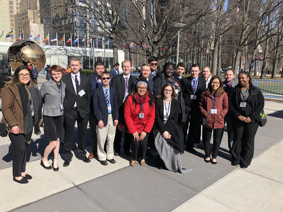 Model UN group in Washington, DC.
