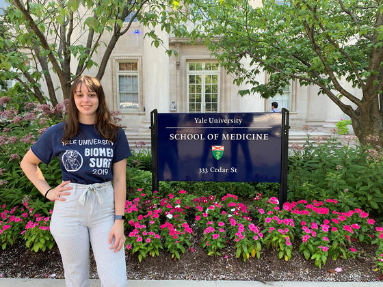 Jade Enright, Molecular Biology major at McDaniel College, conducted research at Yale.