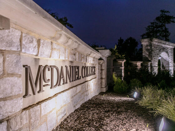 McDaniel Entrance with Arch