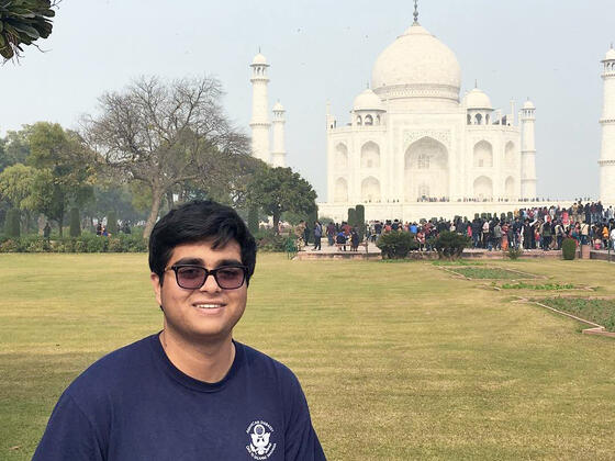 Ravi Patel at the Taj Mahal, India