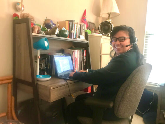 McDaniel Accounting student Jyoti Duwady interviews virtually with accounting firms