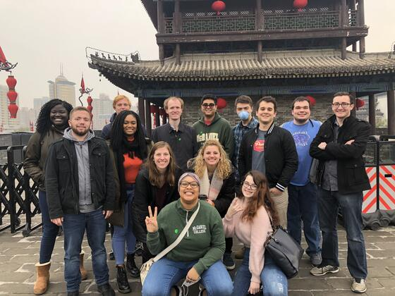 model un students in china