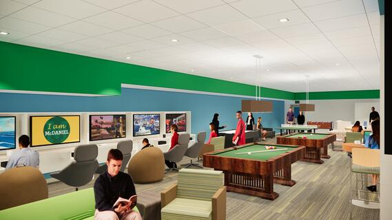 Student Center Renovation - rec lounge