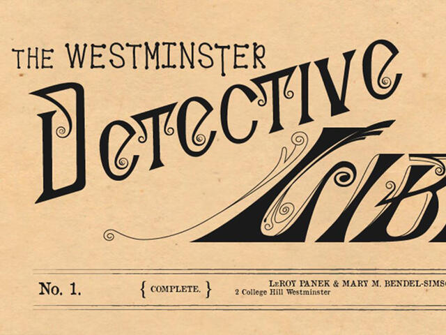Header from the Westminster Detective Library website