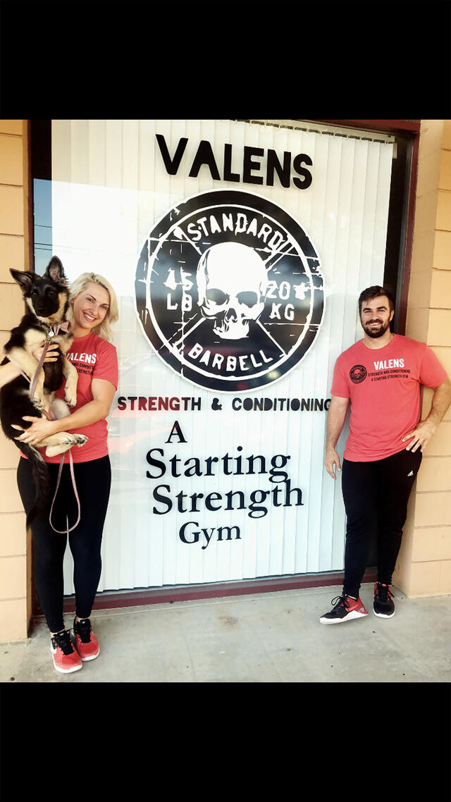 Nicole Rutherford '16 and her partner, Jason Varnum, opened the first location of Valens Strength & Conditioning in July 2017 in the Mission Valley neighborhood of San Diego.