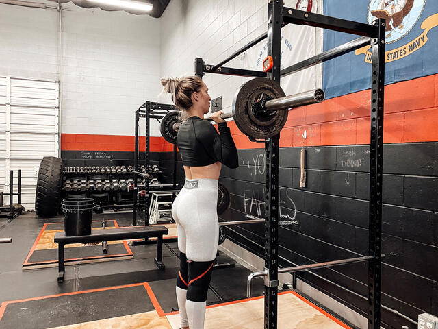 Nicole Rutherford '16 still finds time to lift in between training clients and running the business for two locations of Valens Strength & Conditioning.