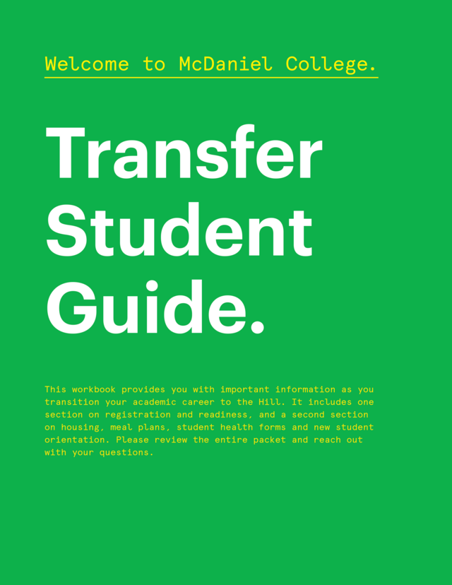 transfer student guide workbook cover