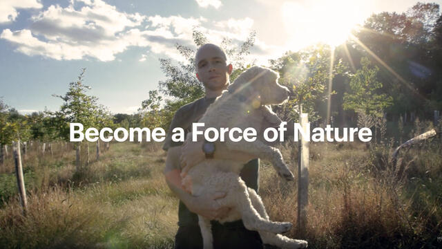 become a force of nature - man with dog at Singleton-Matthews Farm
