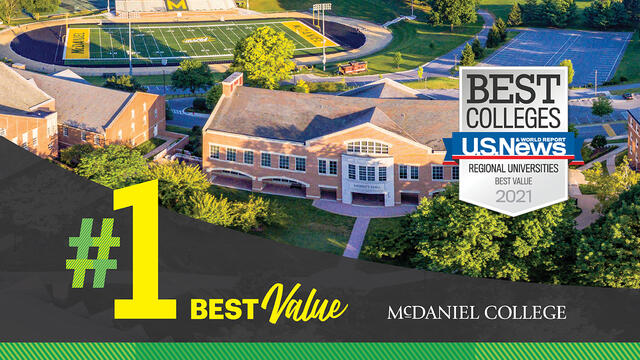 McDaniel College #1 Best Value by US News 2021